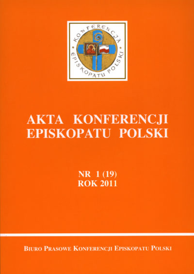 Akta konferencji Episkopatu Polski nr 1(19) ROK 2011