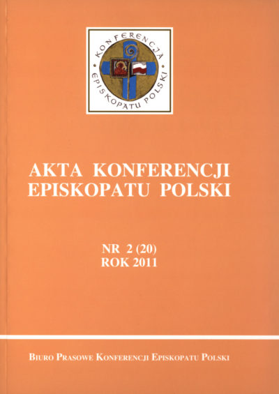 Akta konferencji Episkopatu Polski nr 2 (20) ROK 2011