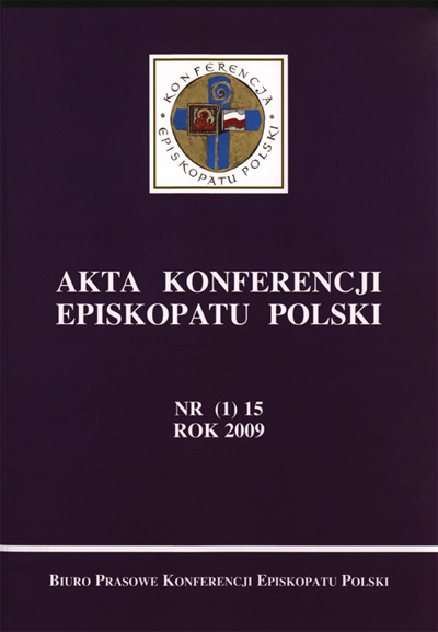 Akta Konferencji Episkopatu Polski nr (1) 15 ROK 2009