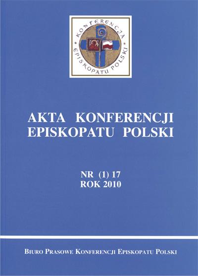 Akta Konferencji Episkopatu Polski nr (1) 17 ROK 2010