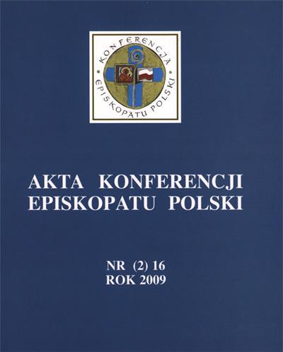 Akta Konferencji Episkopatu Polski nr (2) 16 ROK 2009