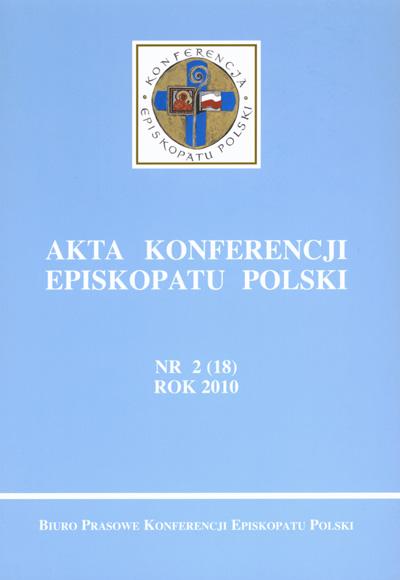 Akta Konferencji Episkopatu Polski nr 2 (18) 2010