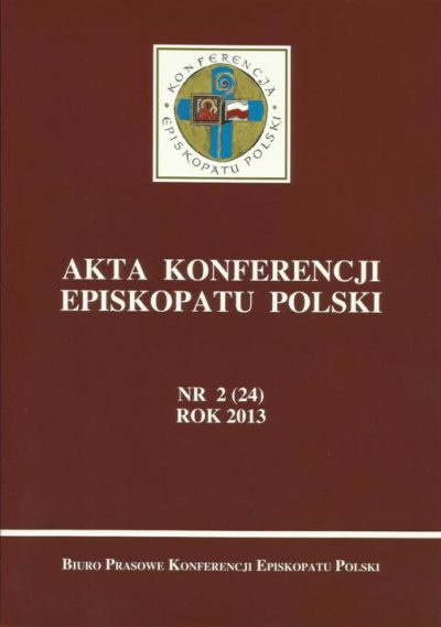 Akta Konferencji Episkopatu Polski nr 2 (24) ROK 2013