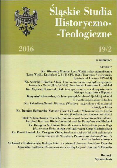 Śląskie Studia Historyczno-Teologiczne 49/2 2016