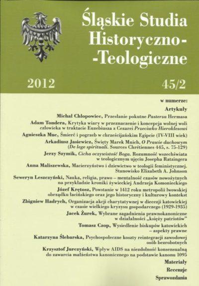 Śląskie studia historyczno - teologiczne 45/2  (2012)