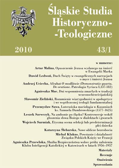Śląskie Studia Historyczno-Teologiczne 43/1 (2010)
