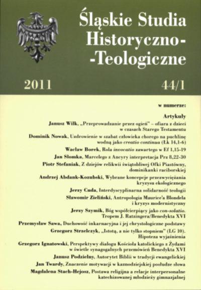 Śląskie Studia Historyczno-Teologiczne 44/1 (2011)
