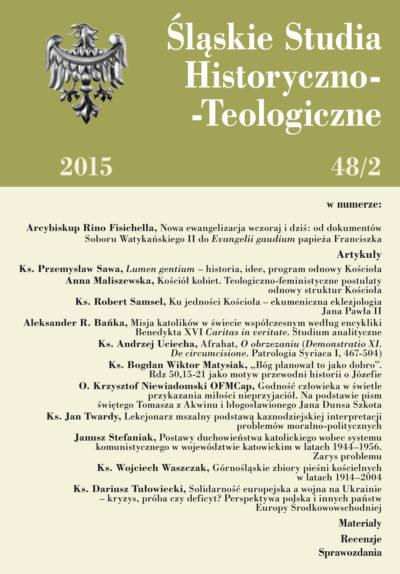 Śląskie Studia Historyczno-Teologiczne 48/2 2015