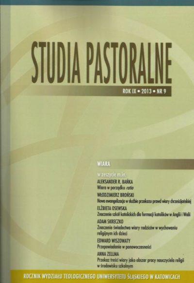 Studia Pastoralne ROK IX 2013 NR 9