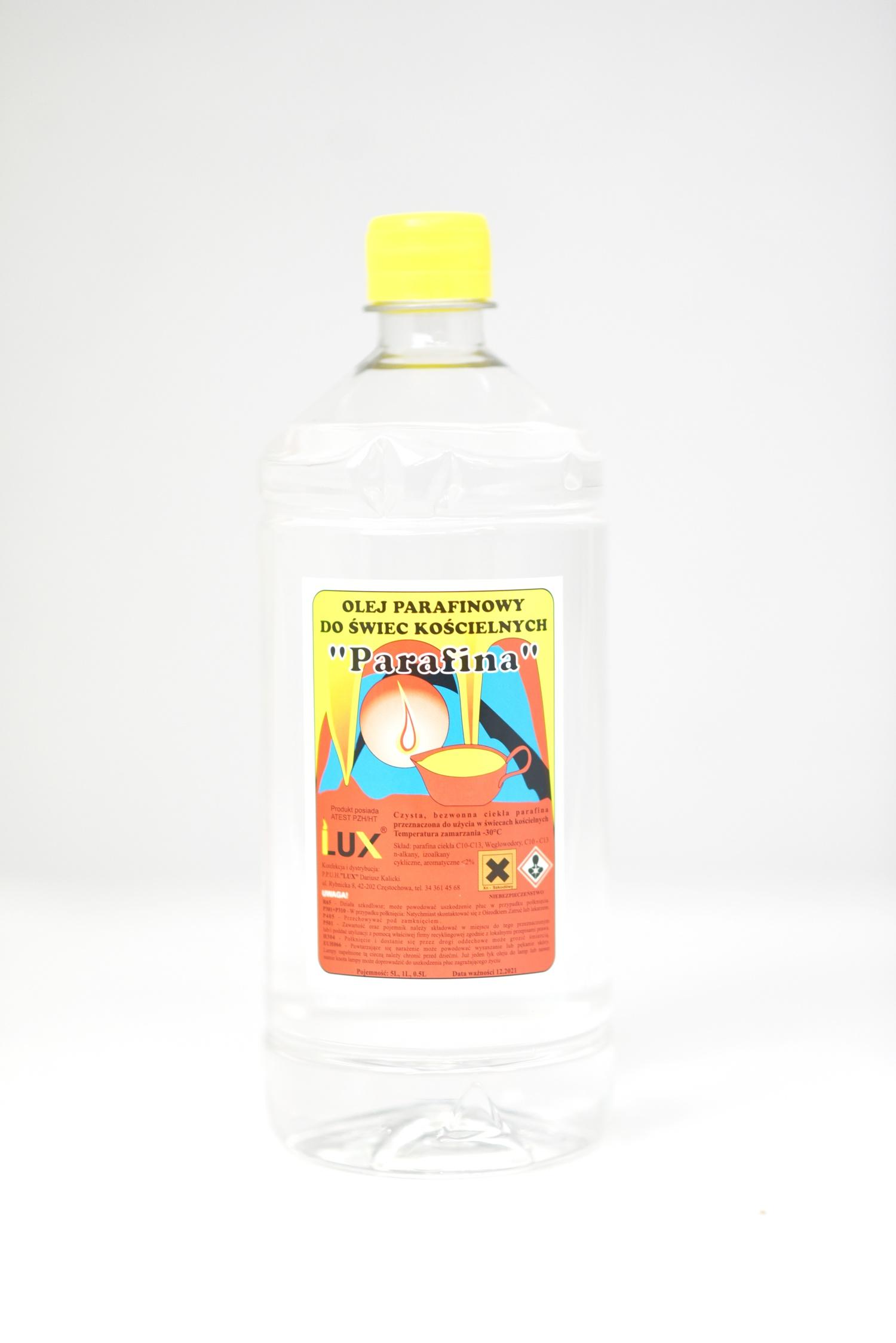 Olej parafinowy do świec kościelnych (bezbarwny)