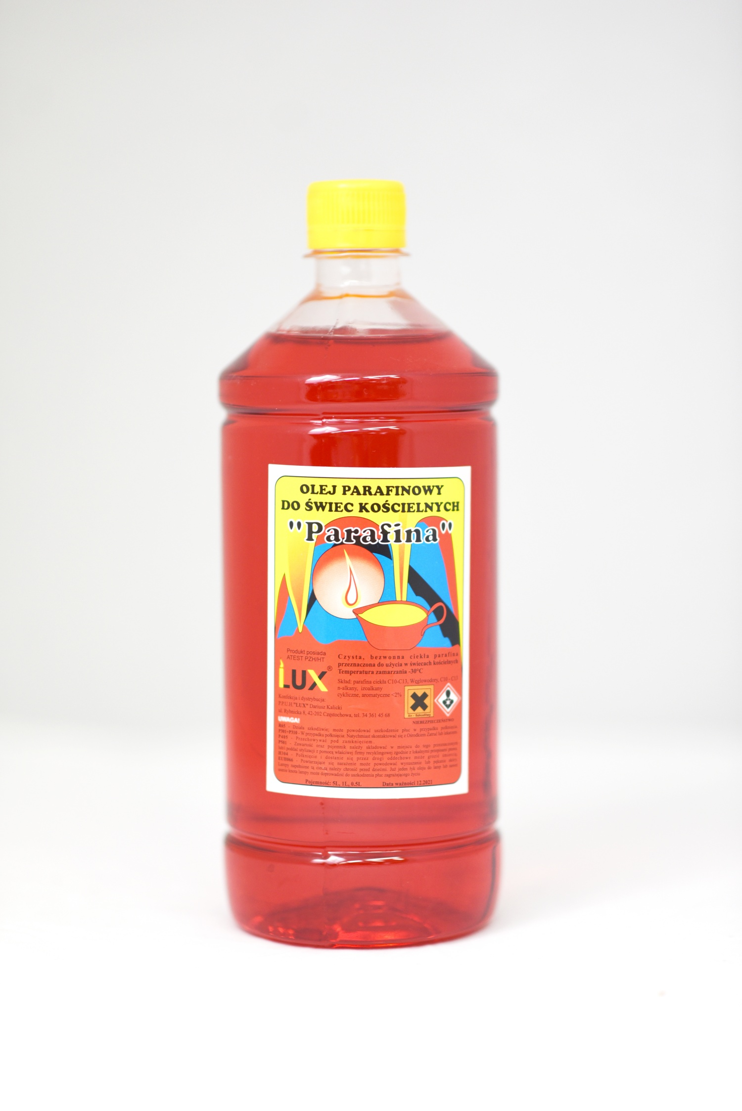 Olej parafinowy do świec kościelnych (czerwony)