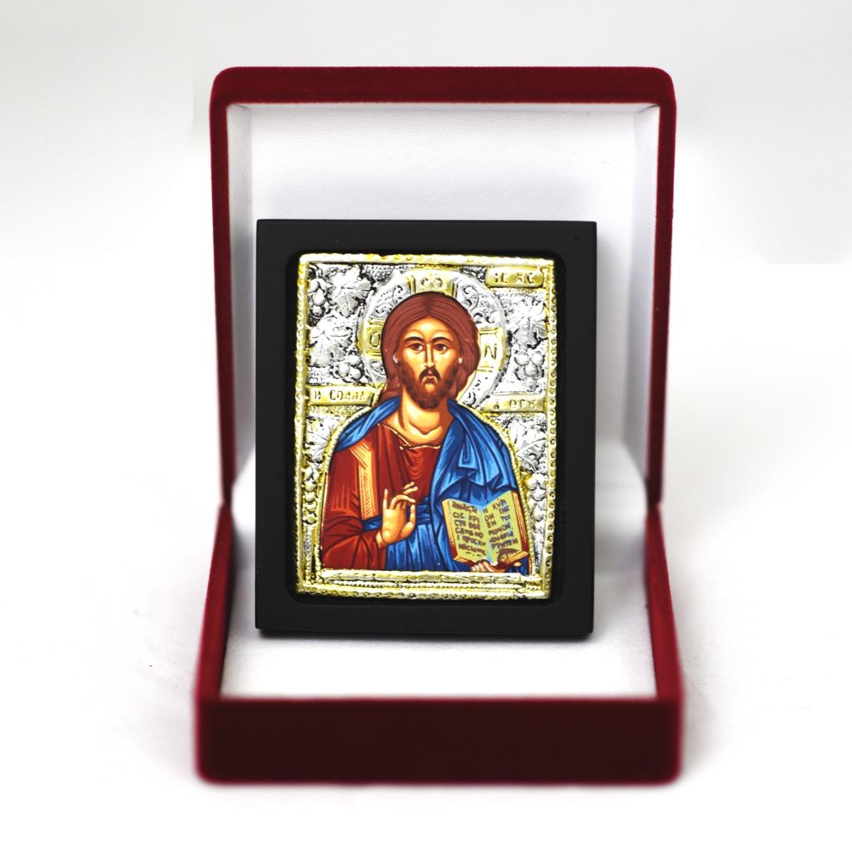 Ikona w pudełku Jezus Pantokrator