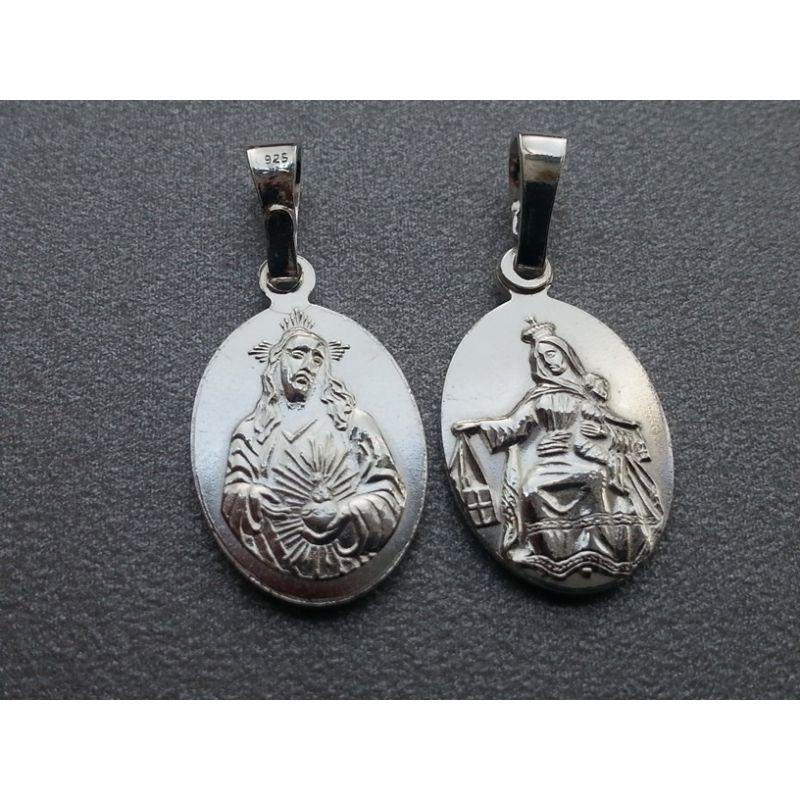 Medalik srebny Matka Boża Szkaplerzna