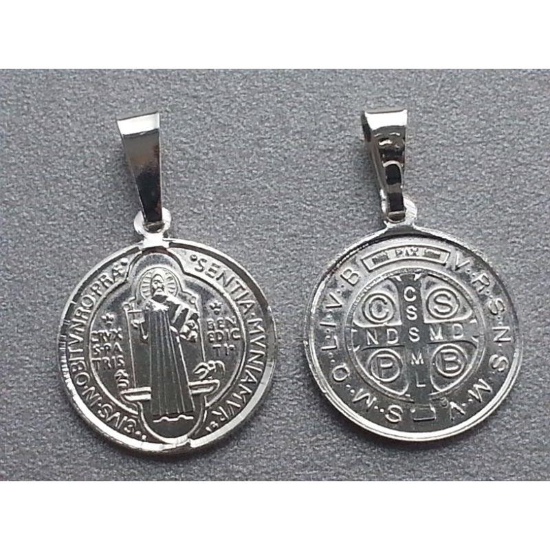Medalik św. Benedykta - srebrny