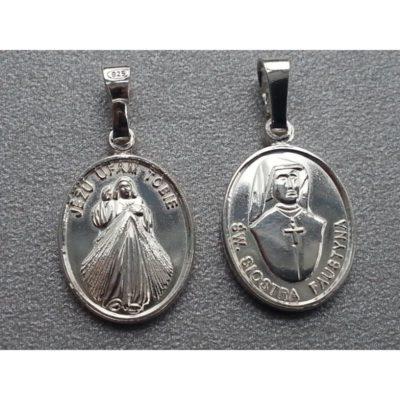 Medalik srebrny Jezu Ufam Tobie