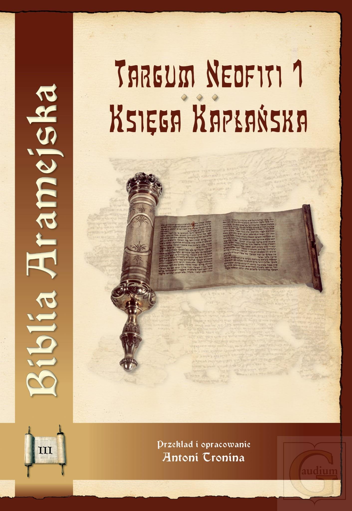 Biblia aramejska Targum Neofiti 1. Księga Kapłańska