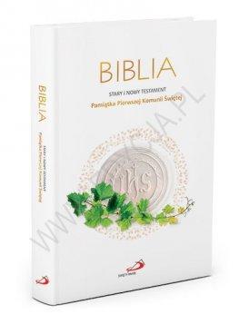 Biblia Pamiątka Pierwszej Komunii Świętej (z kolorową wkładką)