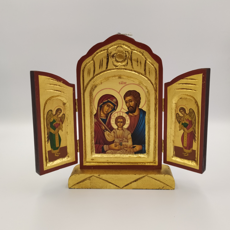 Ikona grecka Święta Rodzina (tryptyk)