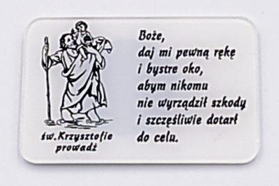Plakietka św. Krzysztof