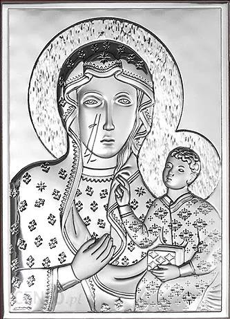 Obrazek srebrny MB Częstochowska