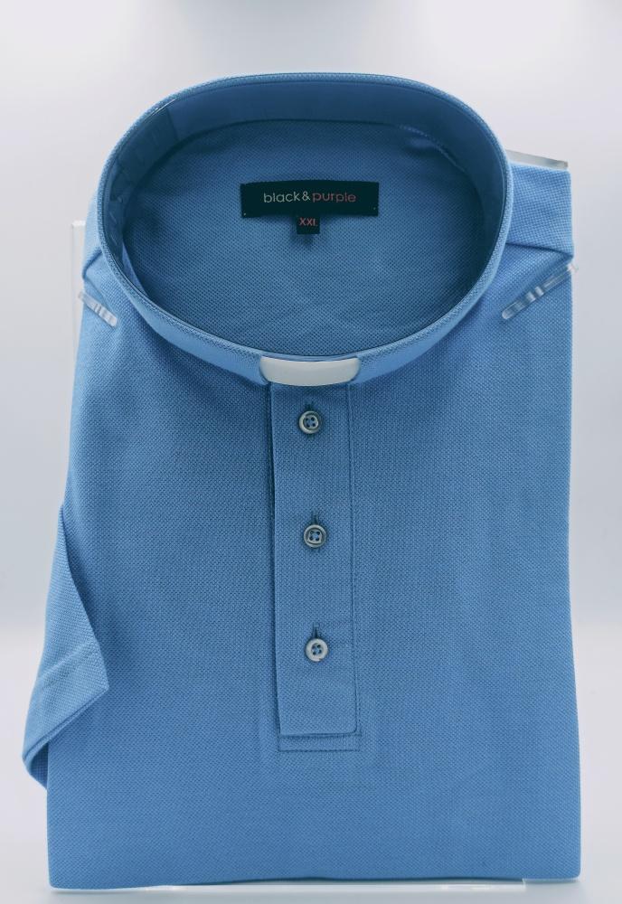 Koszulka polo pod koloratkę (niebieska)