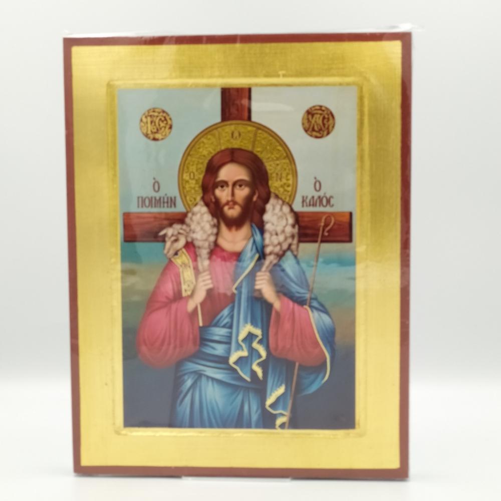 Ikona grecka Jezus Dobry Pasterz.