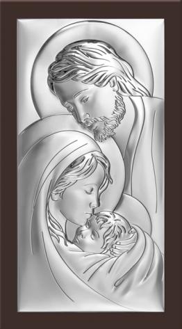 Obrazek srebrny Św .Rodzina