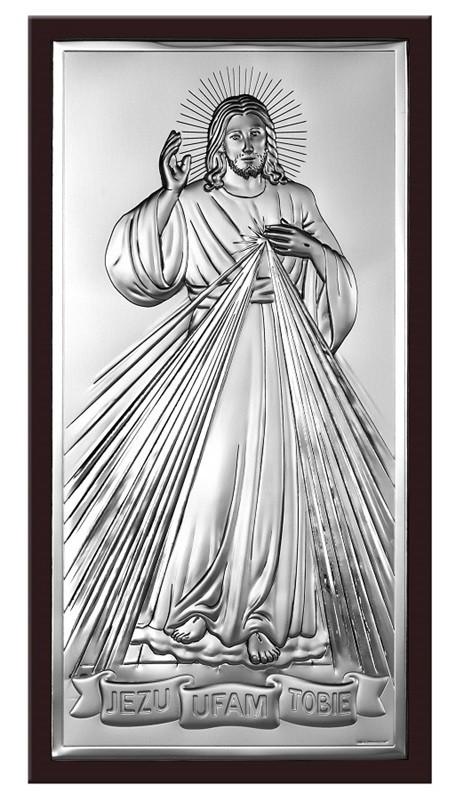 Obrazek srebrny Jezu Ufam Tobie