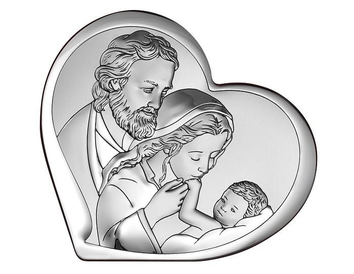 Obrazek srebrny św. Rodzina