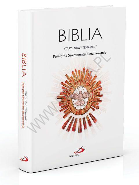 Biblia Pamiątka Sakramentu Bierzmowania (z kolorową wkładką)