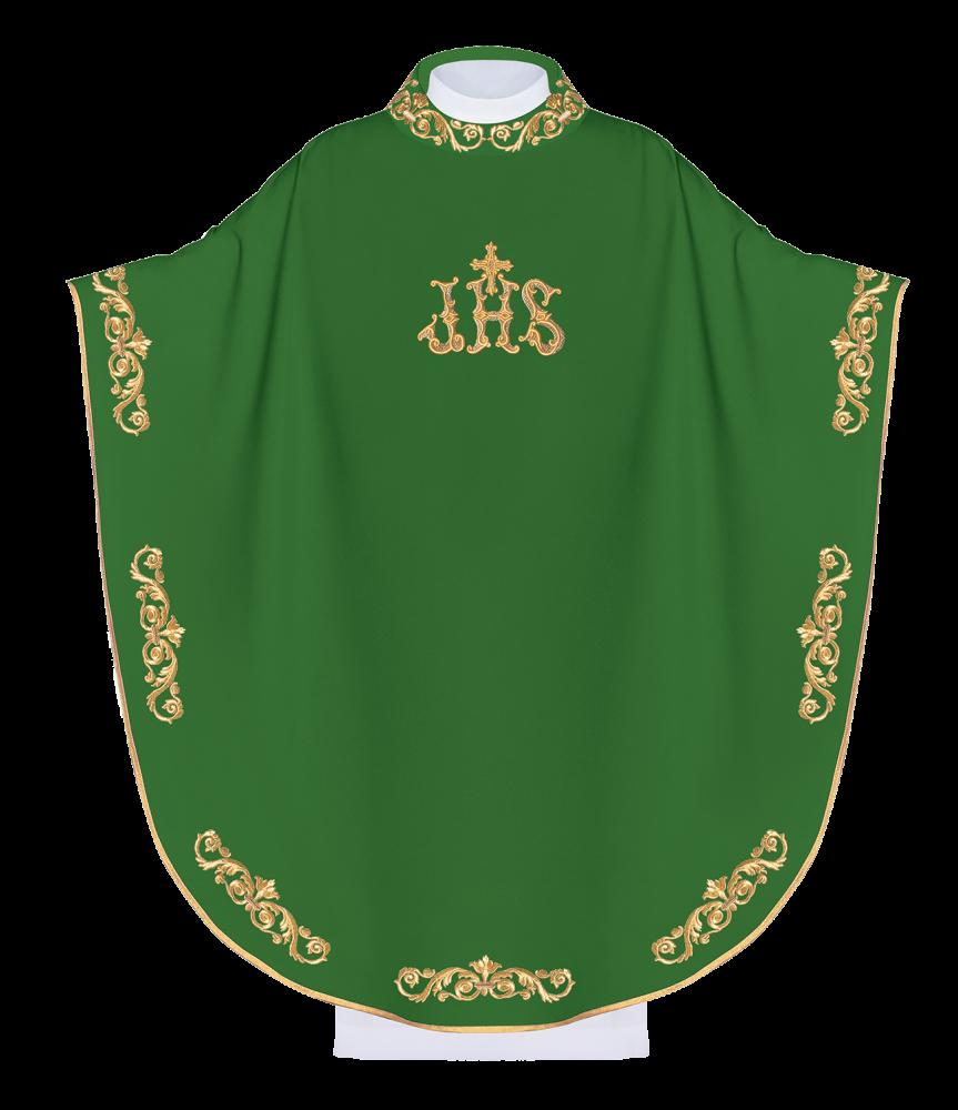 Ornat haftowany (zielony)