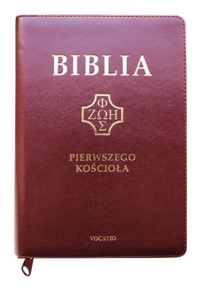 Biblia Pierwszego Kościoła - burgundowa