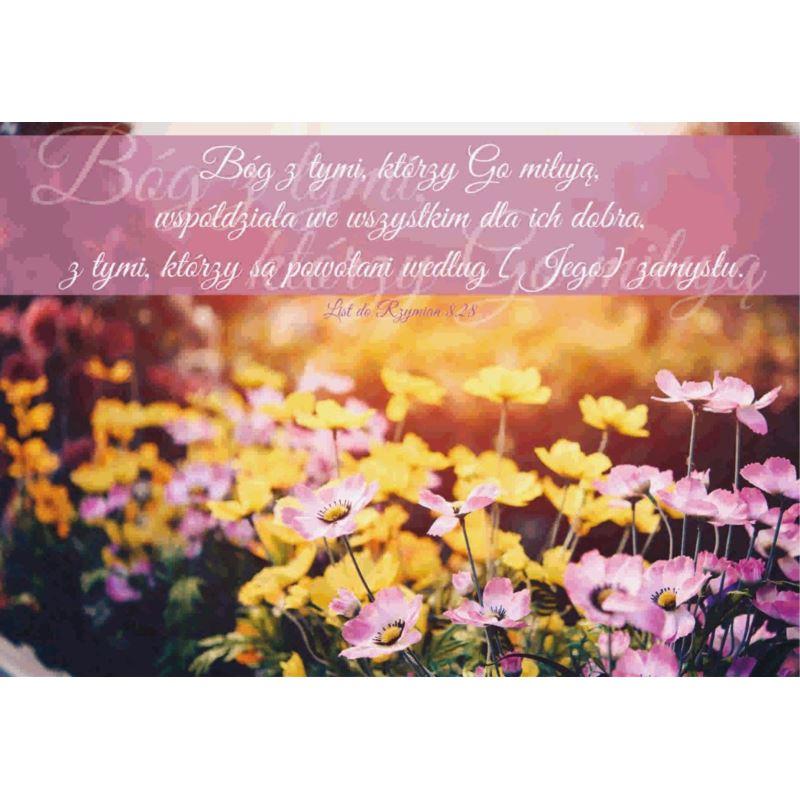 Kartka składana - Bóg z tymi którzy go miłują