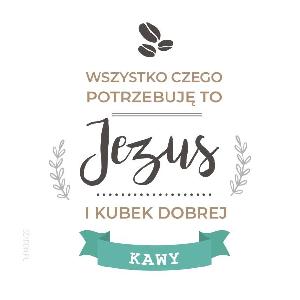 Podstawka korkowa - Jezus i kubek