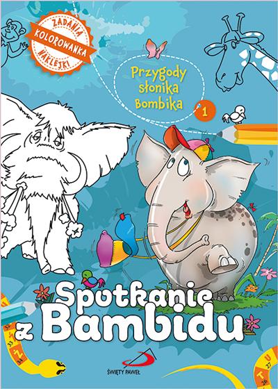 Przygody słonika bambika - Spotkanie z Bambidu (kolorowanka)