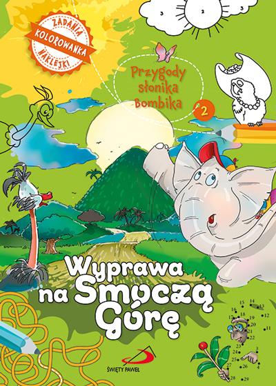Przygody słonika bambika - Wyprawa na smoczą górę (kolorowanka)