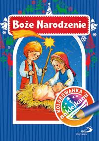 Kolorowanka z naklejkami. Boże Narodzenie