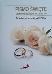 Pismo Święte ST I NT/Edycja/duże, złocone/ Pamiątka Małżeństwa