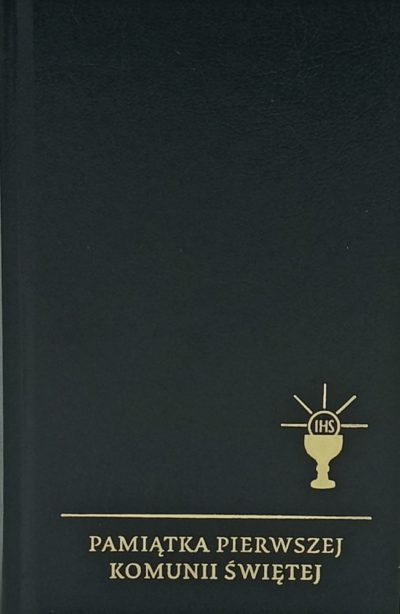 Skarbiec modlitw i pieśni wyd. XVIII złocony czarny I Komunia