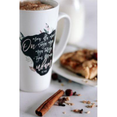 Kubek latte - On mocą dla mnie