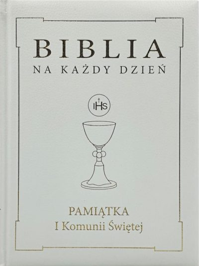 Pismo Święte ST i NT/WDS Sandomierz/ I Komunia Święta/skóra - złota