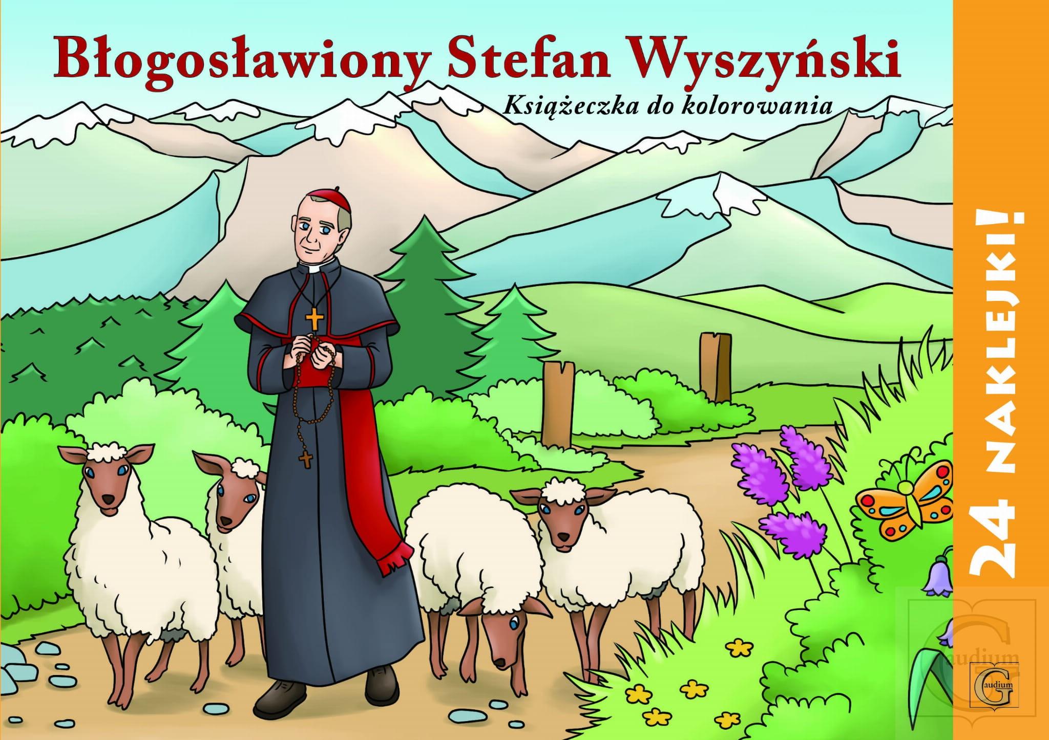Kolorowanka z naklejkami - Bł. St. Wyszyński