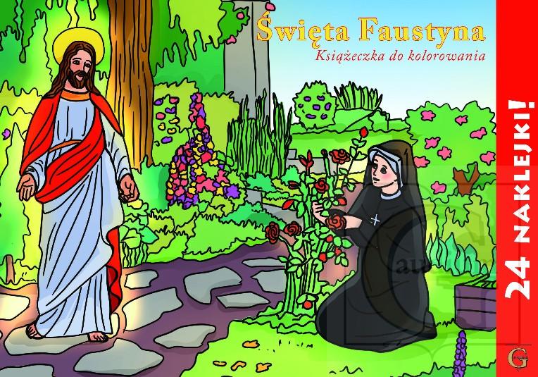 Kolorowanka Święta Faustyna
