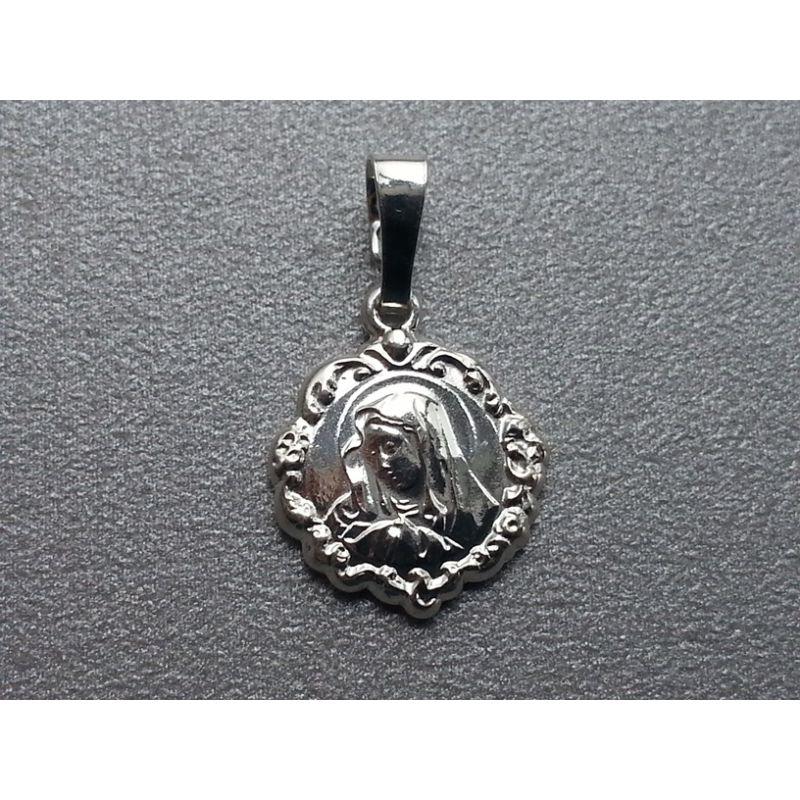 Medalik srebrny Matka Boża