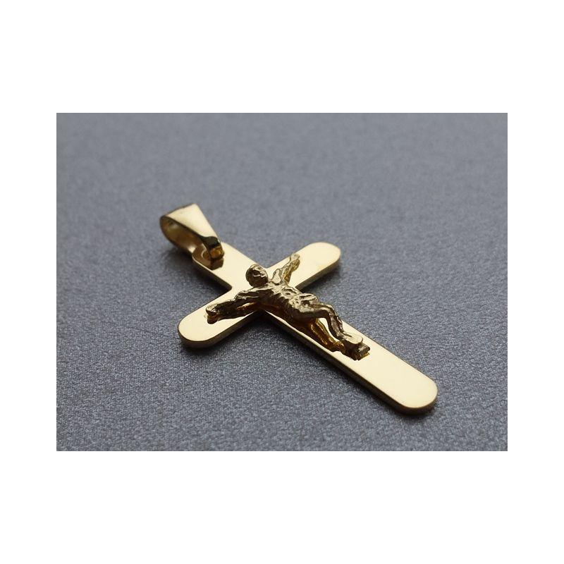 Krzyżyk srebrny (pozłacany)