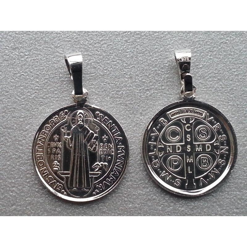 Medalik srebrny- Św.Benedykt (średni)