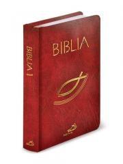 """Biblia """"z rybką""""/opr. balacron-bordo/kolorowa wkładka"""