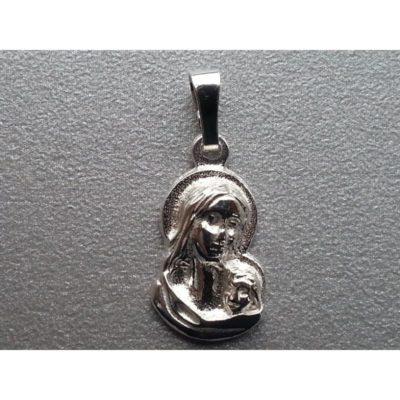 Medalik srebrny- Matka Boża