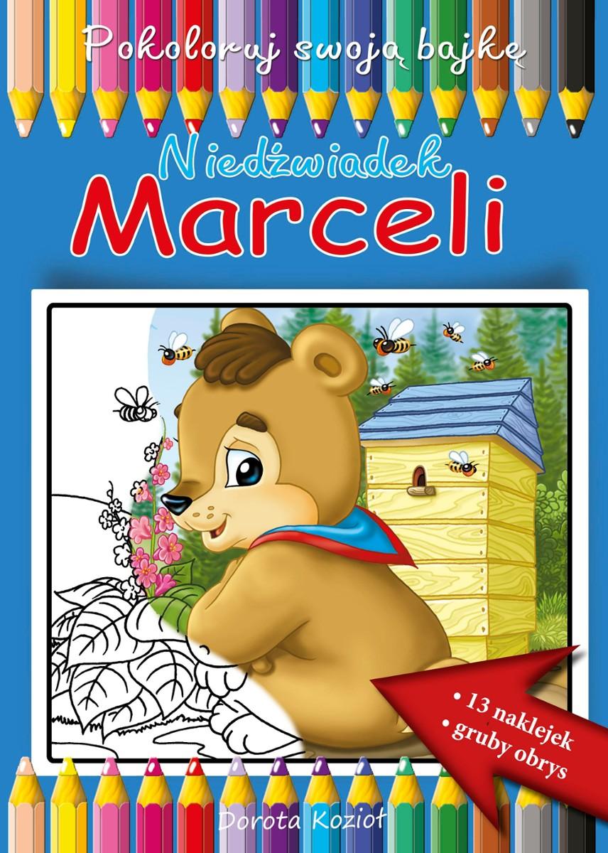 Niedźwiadek Marceli - kolorowanka