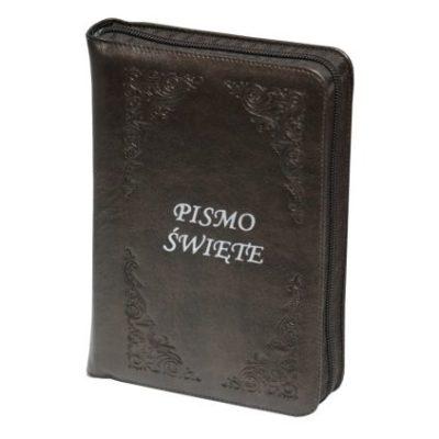 Pismo Święte ST i NT/ePAKS/oazowe/skóra/zamek/paginatory/brązowe